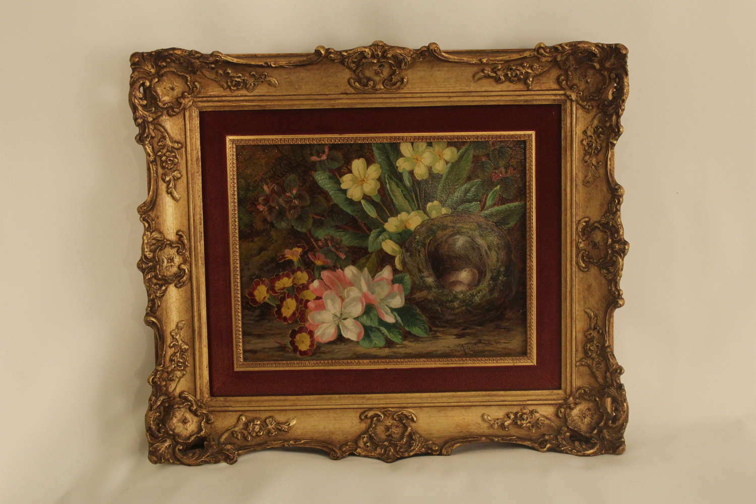 Thomas Collins 1893, A Good Pair of Still life Oil Paintings on Canvas