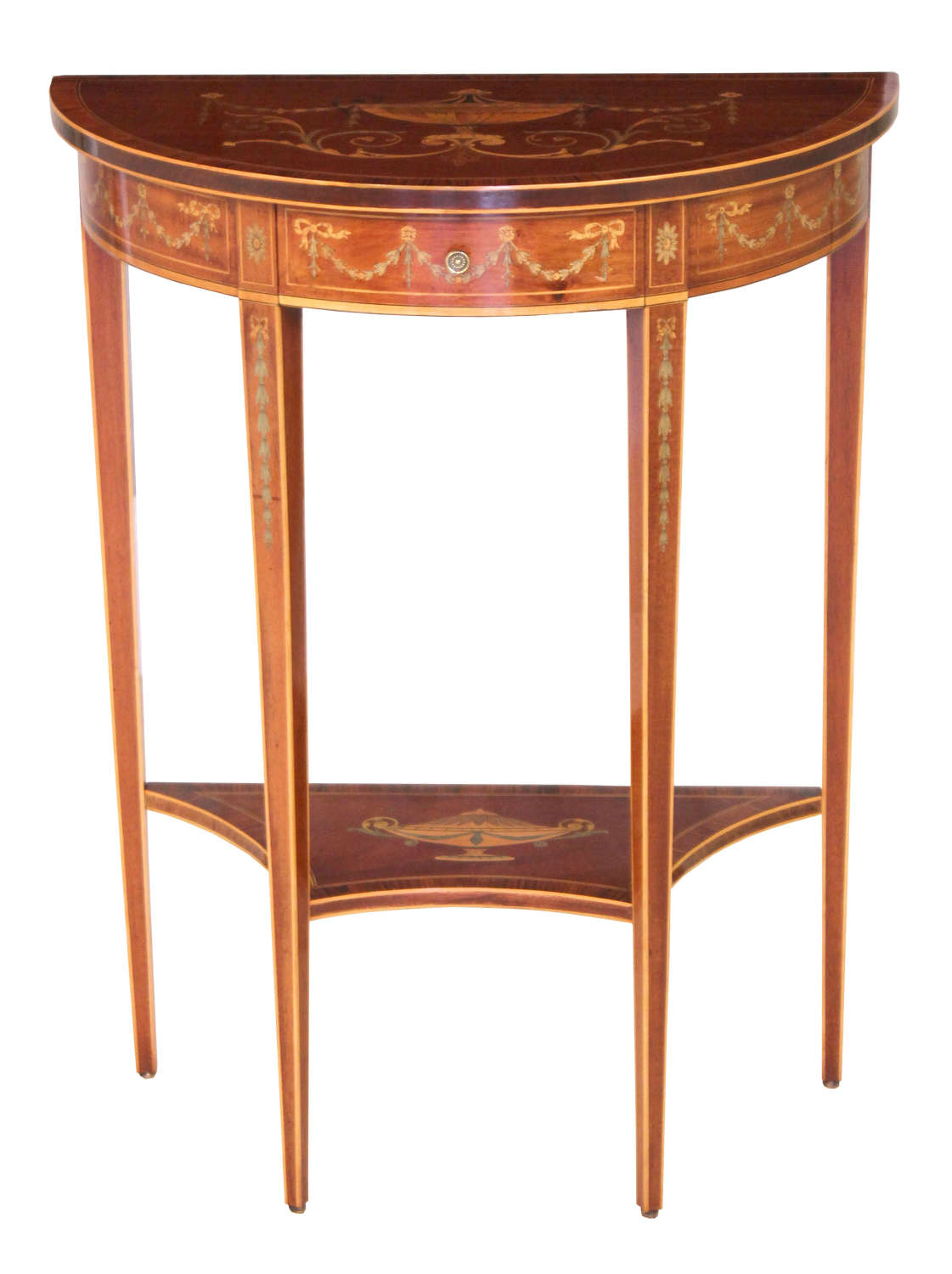 A Fine Quality Late Victorian Mahogany Edwards & Roberts Console Table