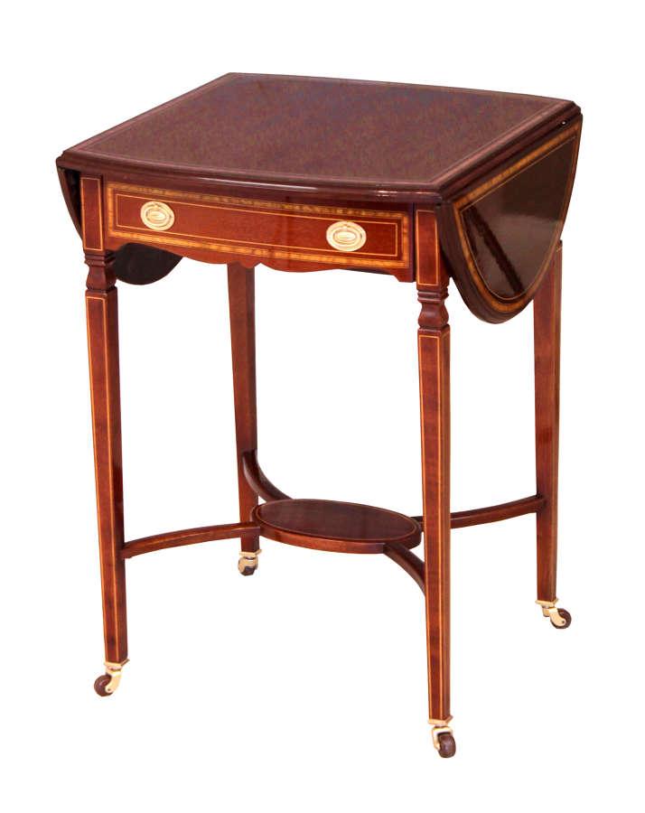 The Quality Edwardian Mahogany Inlaid Pembroke Table
