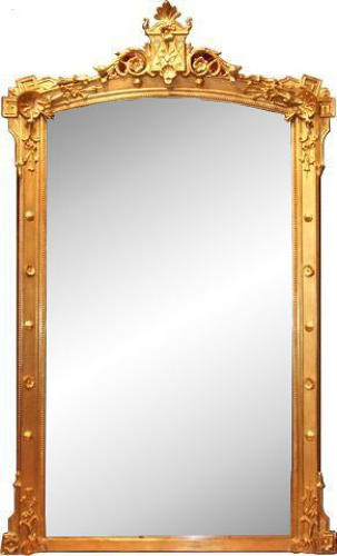 Antique Gilded Overmantle Mirror