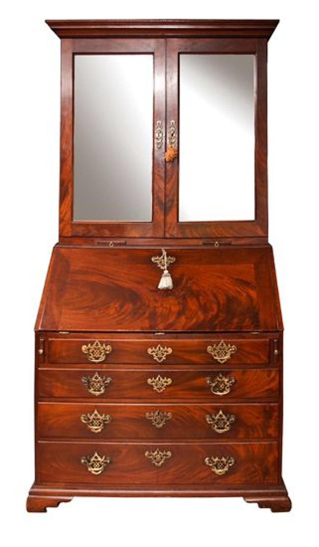 A fine Georgian mahogany bureau bookcase