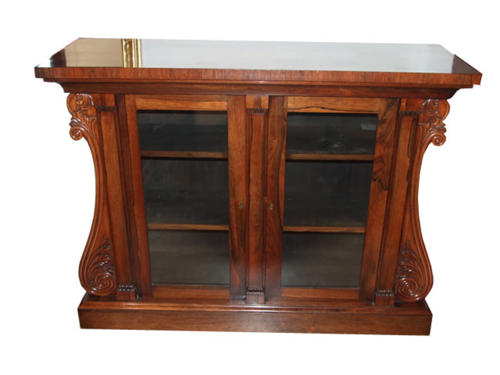 A Rare Regency rosewood cabinet