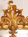 An ornate carved gilded antique overmantle - picture 3