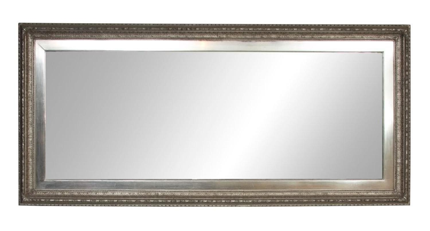 A single 19thC Antique white gold gilded mirror