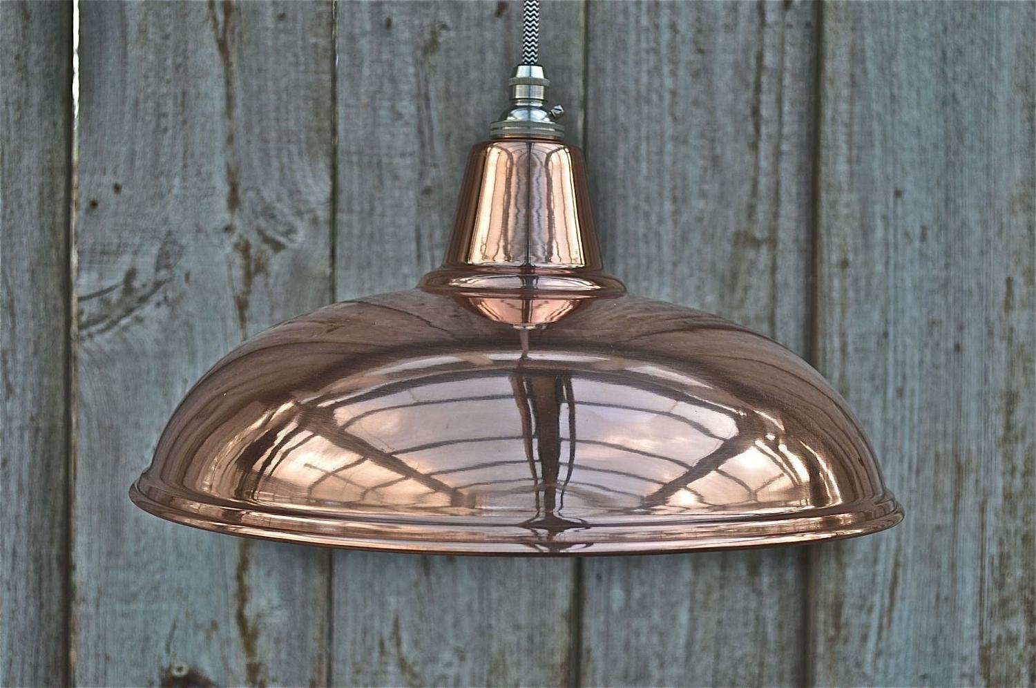 Beautiful vintage styled copper ceiling light hanging lamp shade