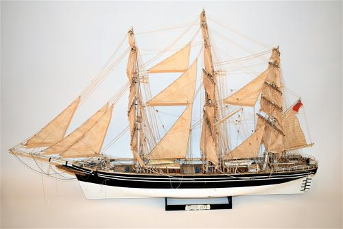 A scratch built model sailing ship