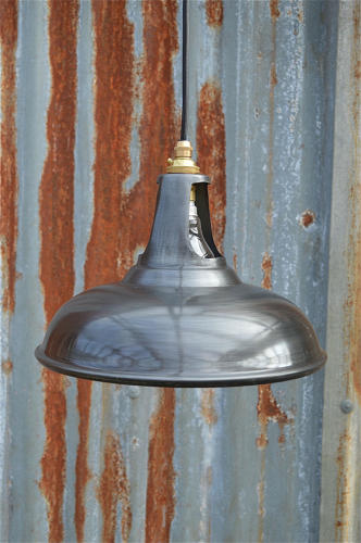 Zinc vented ceiling light shade