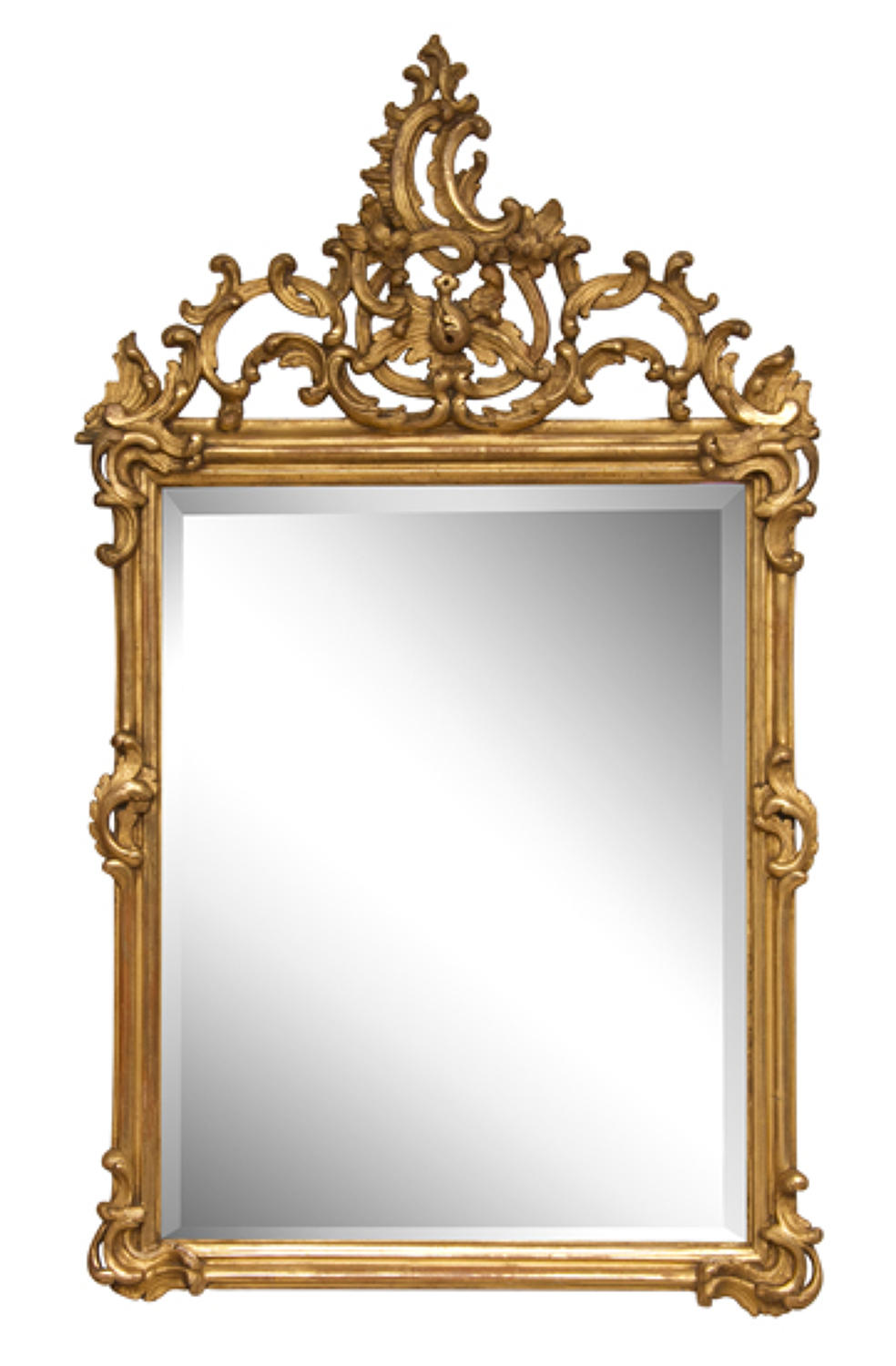 French Hand Carved Giltwood Mirror Louis XV c.1760