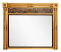 Regency English Overmantle Mirror with Original Mercury Glass - picture 1