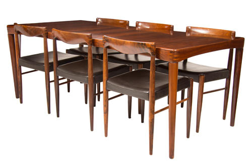 Henry Walter (H W) Klein Extending Dining Table with Six Chairs