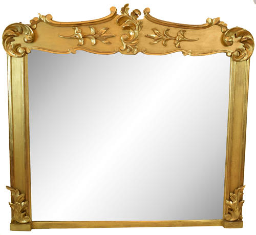 A rare Irish Antique gilded overmantle mirror