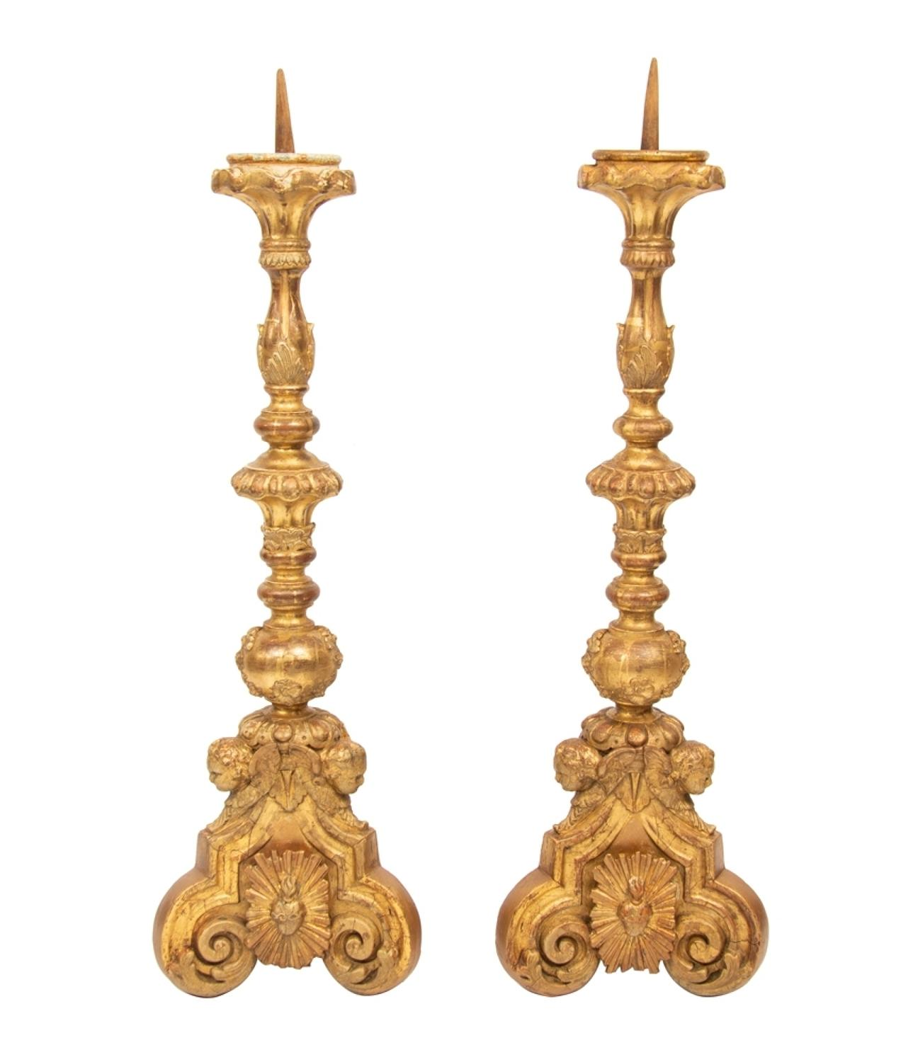 Pair of Antique Candlesticks, French c.1780's