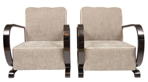 A Pair of Art Deco Armchairs