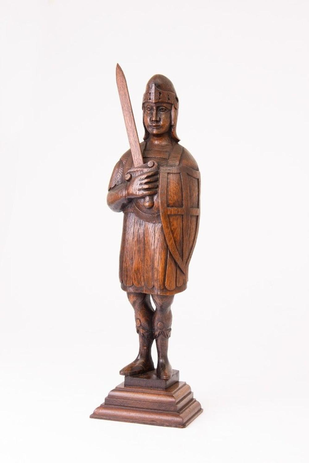 Wooden 19th Century Carved Knight