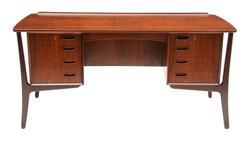Scandinavian Executive Desk by Svend Aage Madsen