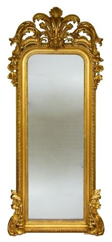 Antique Mercury Plate pier Mirror