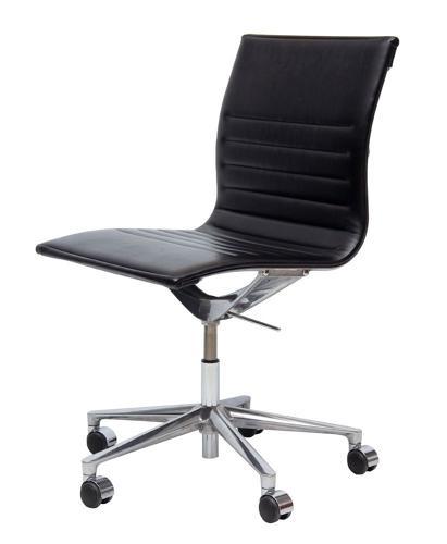 Icaf Italian Leather & Cast Aluminium Desk Chair