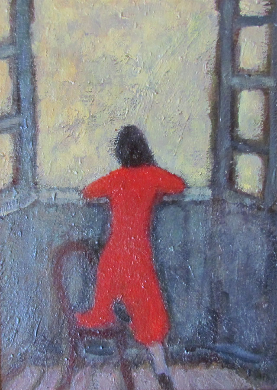 Anthony Murphy. Oils. Girl at the Window.