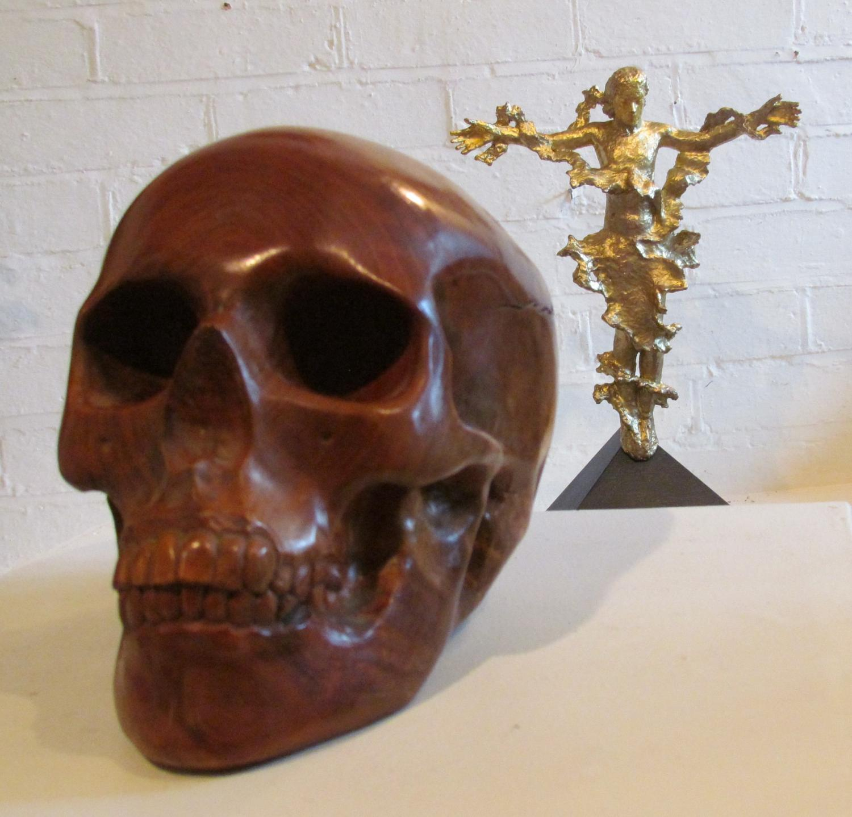 Cherry Wood Skull