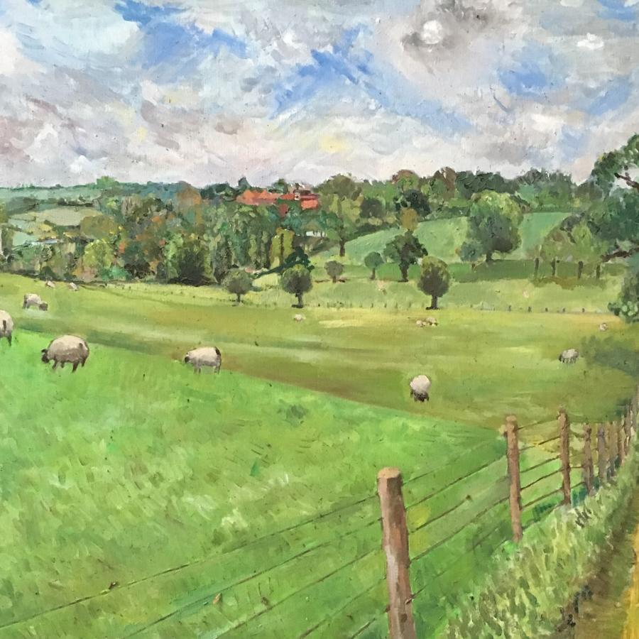 Landscape at Fawsley, Northamptonshire by Nic