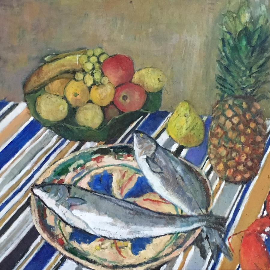Mackerel on a plate by Nicolas Gage