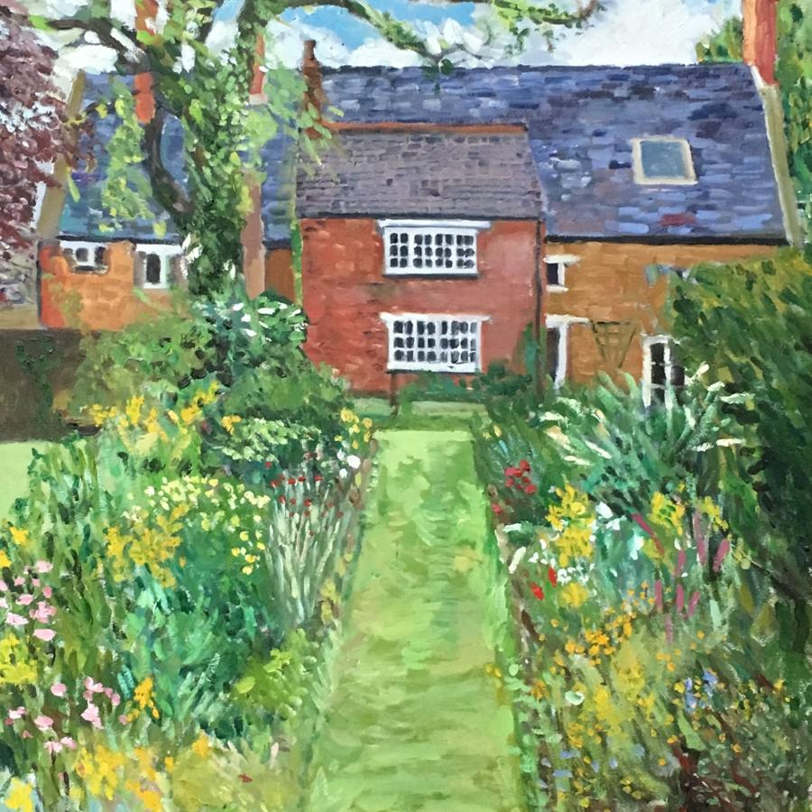 Cottage garden Fawsley, Northamptonshire by N