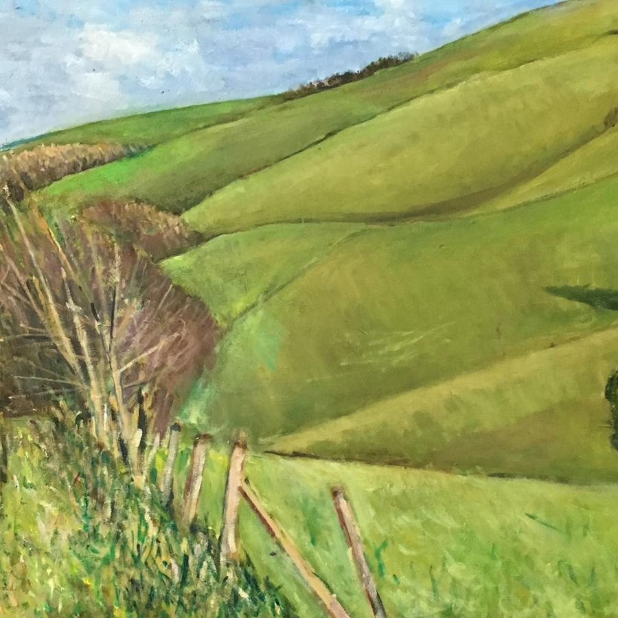 Downland near Firle by Nicolas Gage