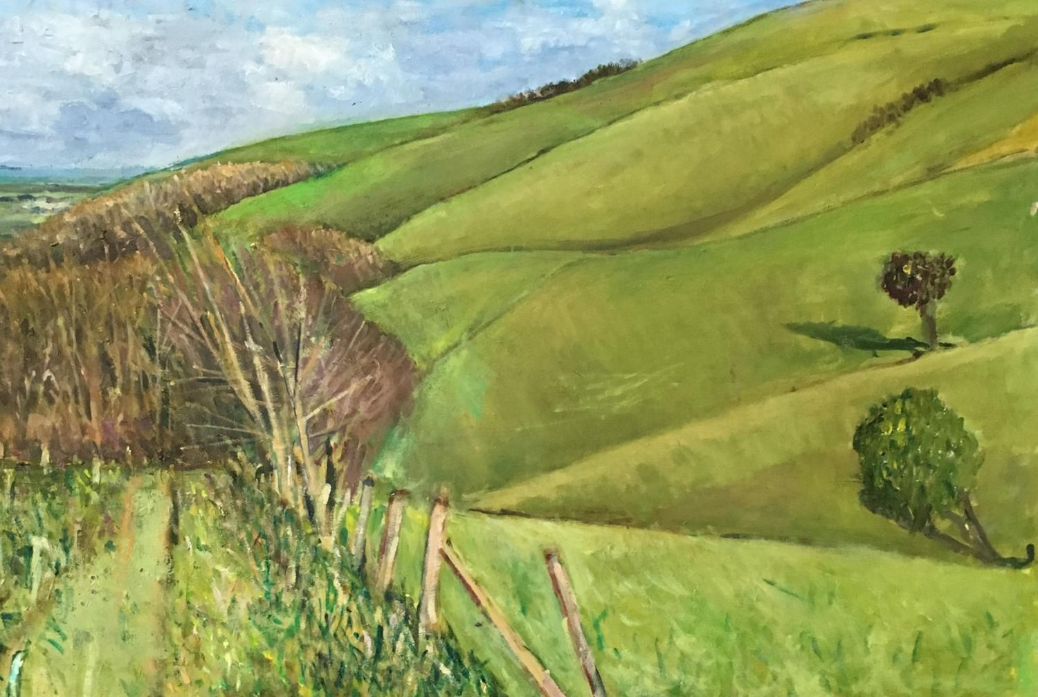 Downland near Firle by Nicolas Gage
