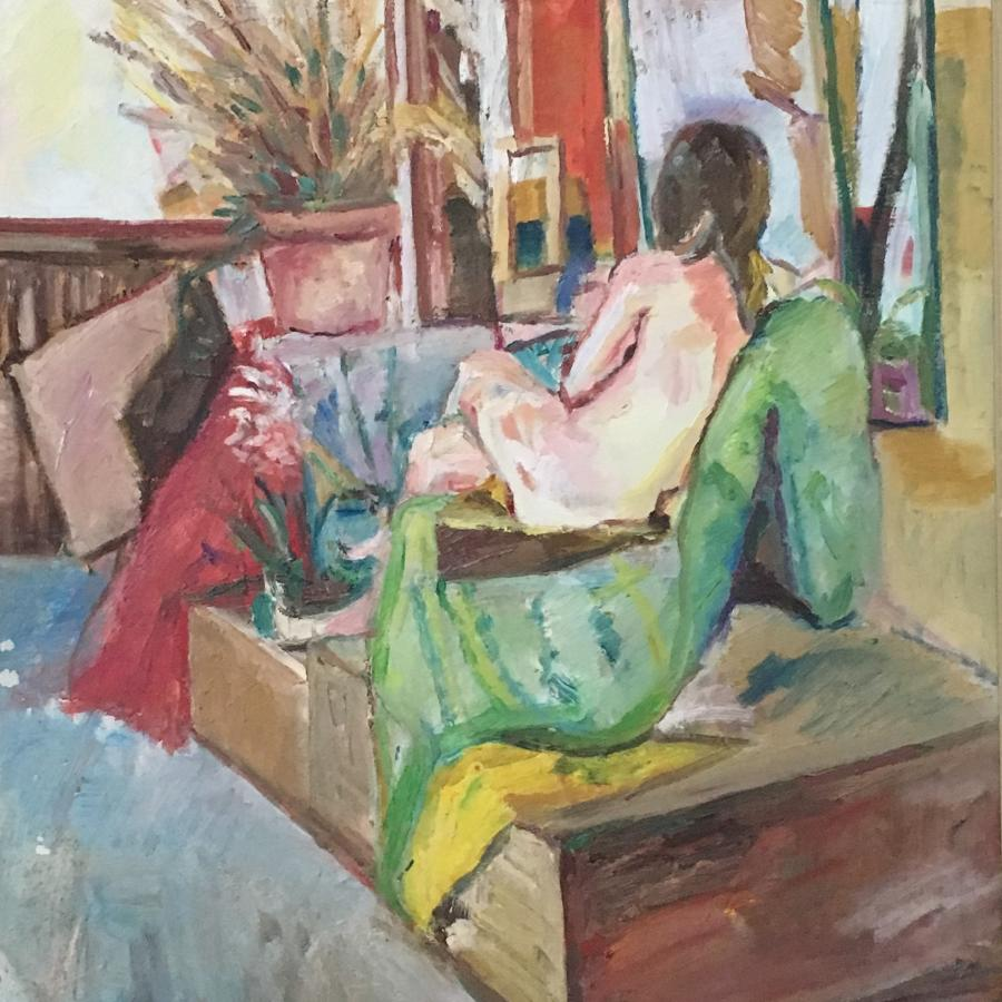 Seated Nude by Nicolas Gage