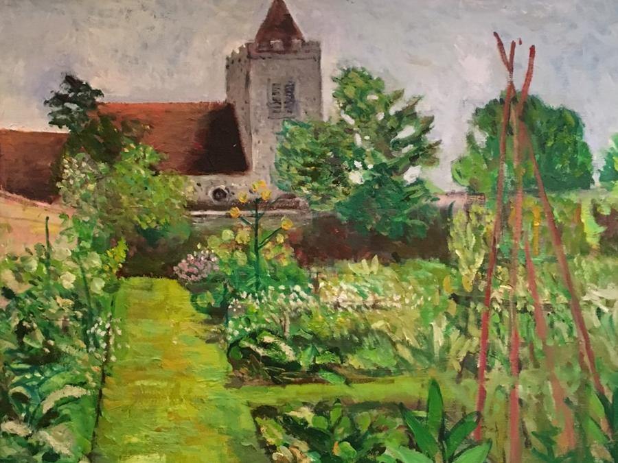 Firle Church by Nicolas Gage