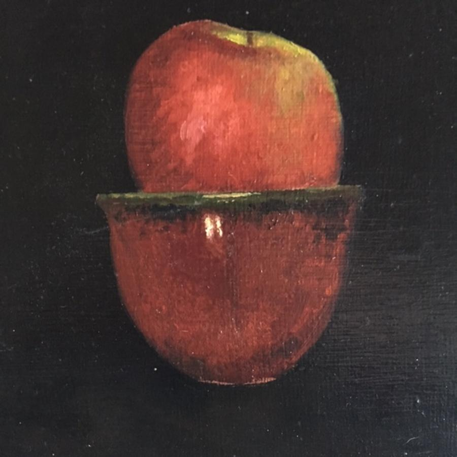 Judith Kuehne -  'Red Apple and Bowl'