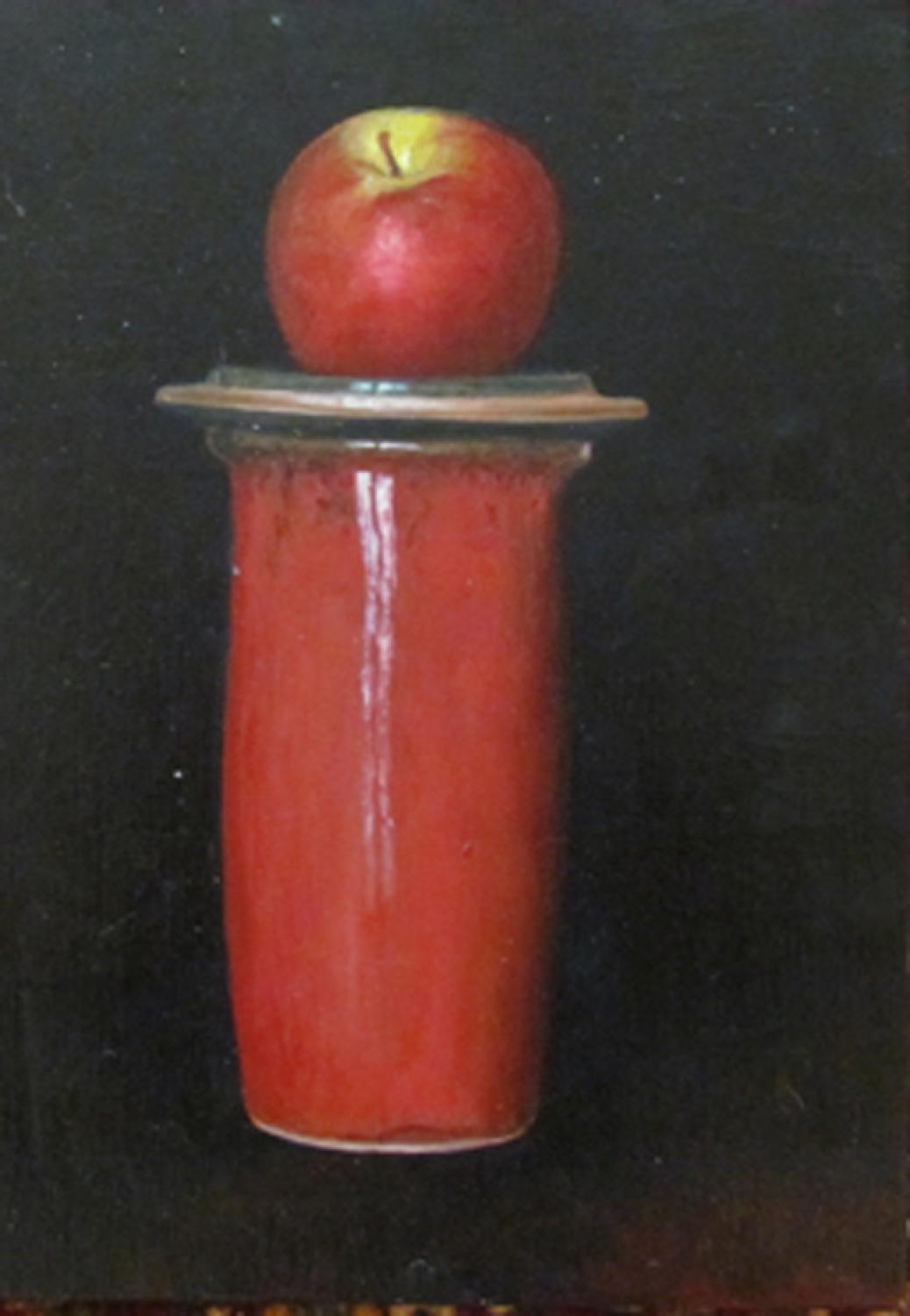 Judith Kuehne - Red Apple and jar