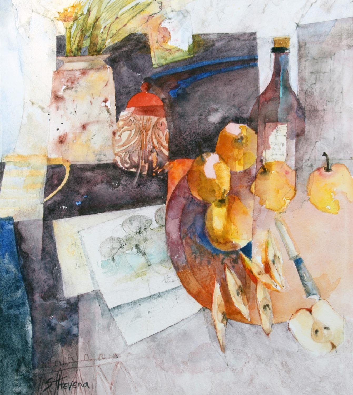 Shirley Trevena. Sllices of golden apples.