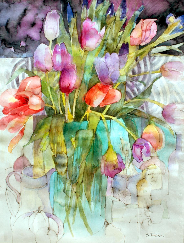 Shirley Trevena. Springy flowers.