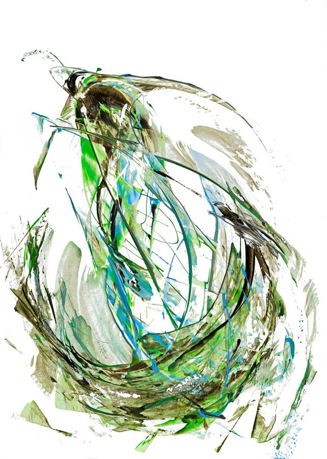 Venetia Nevill - Hooked. (Framed).