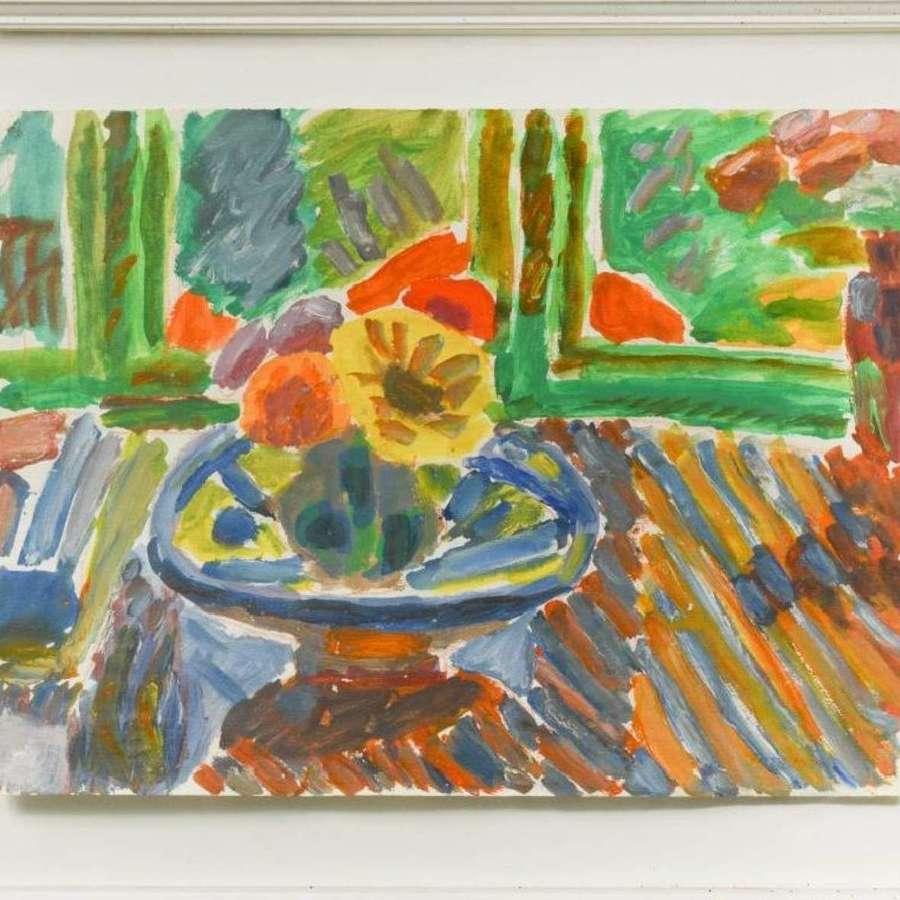 George Hooper 1910-1994 - Flowers by the Window