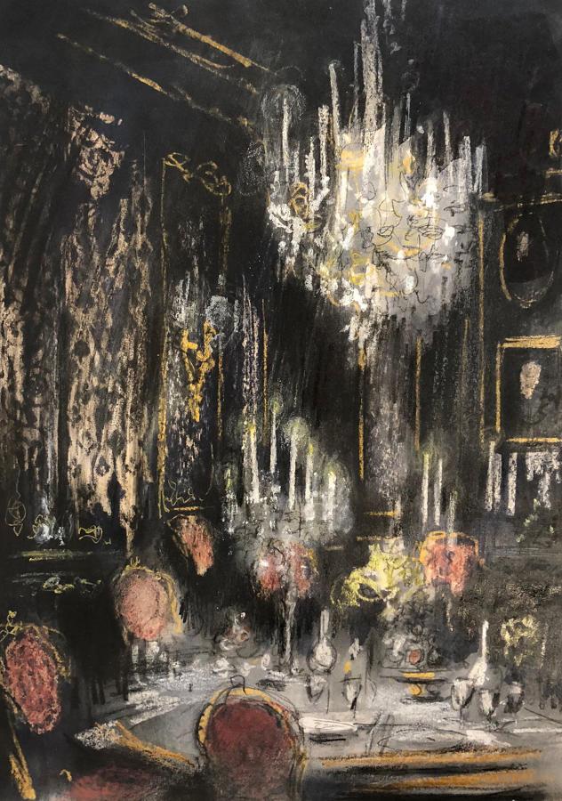 Trevor Newton- Candlelit Dining Room.