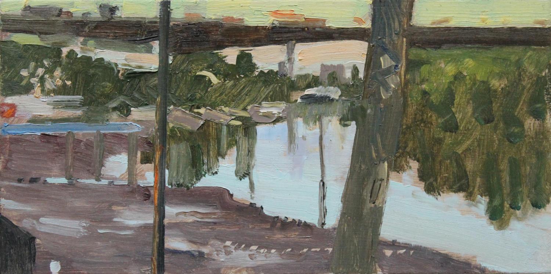 David Parfitt. Summer Thames, Low Tide.