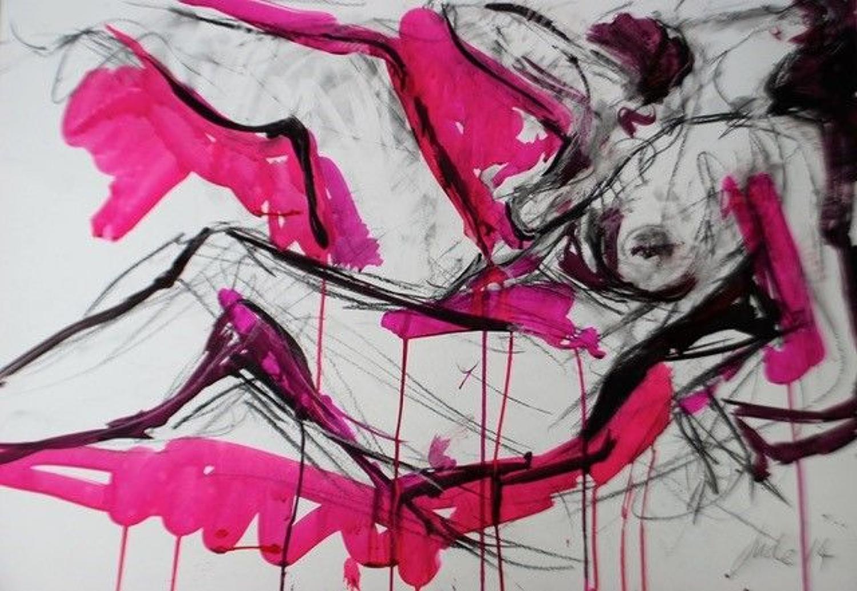 Judith Brenner. Reclining nude.