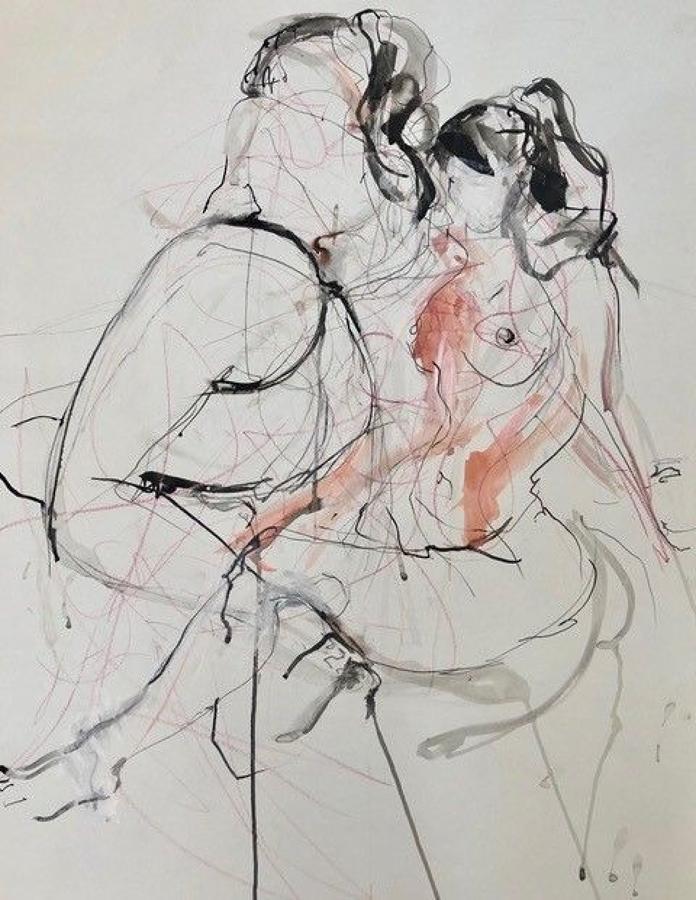 Judith Brenner. Two Figures.