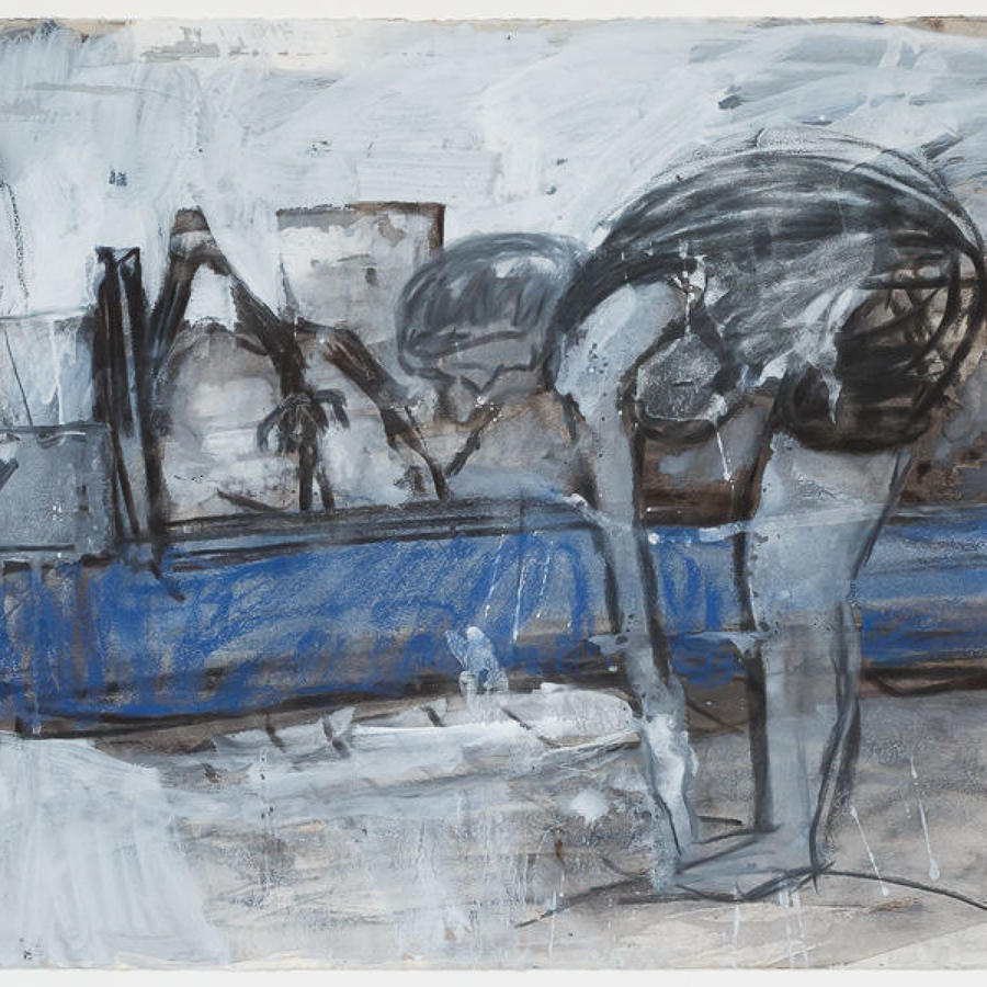 Nick Bush. Stretching on the Ouse.