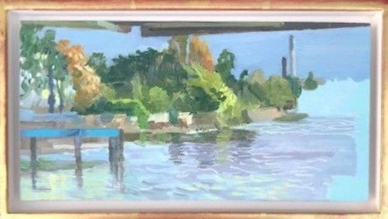 David Parfitt. NEAC, Trees and chimneys.