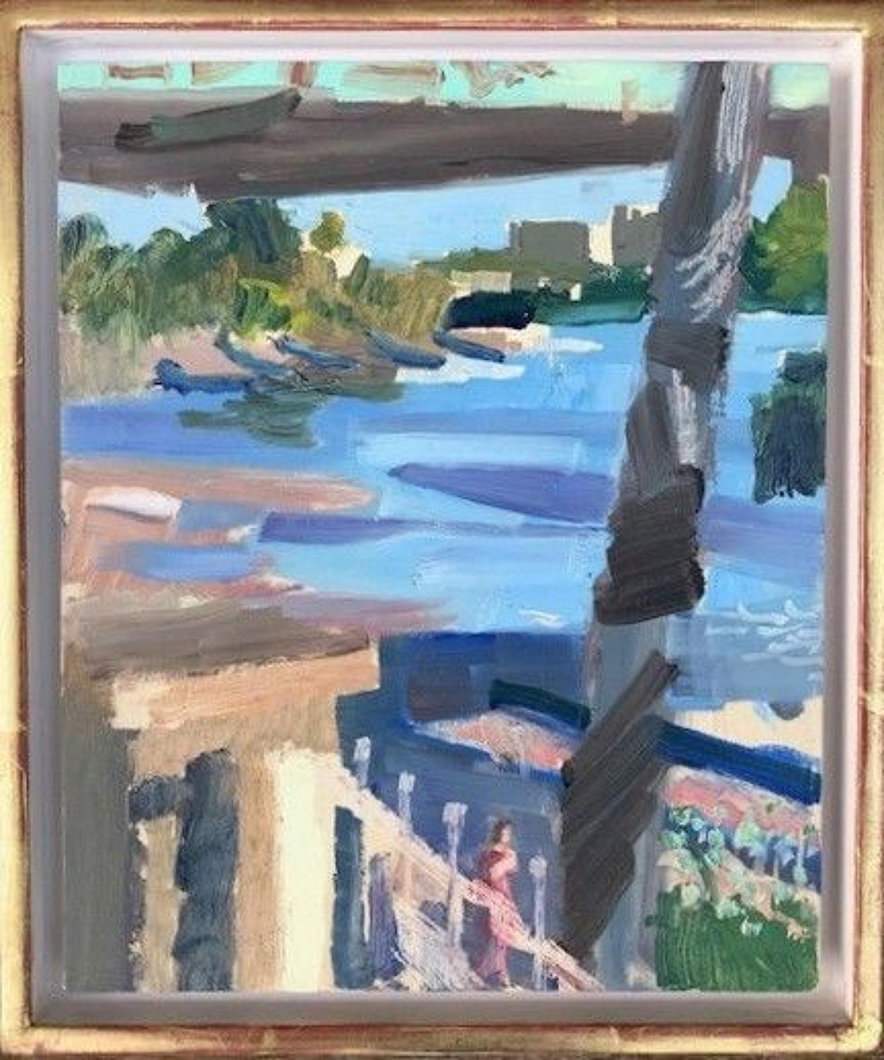 David Parfitt. NEAC. Blue Thames, midummer evening.