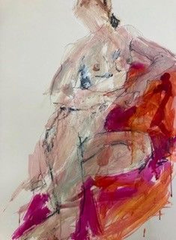 Judith Brenner. Sitting Nude.