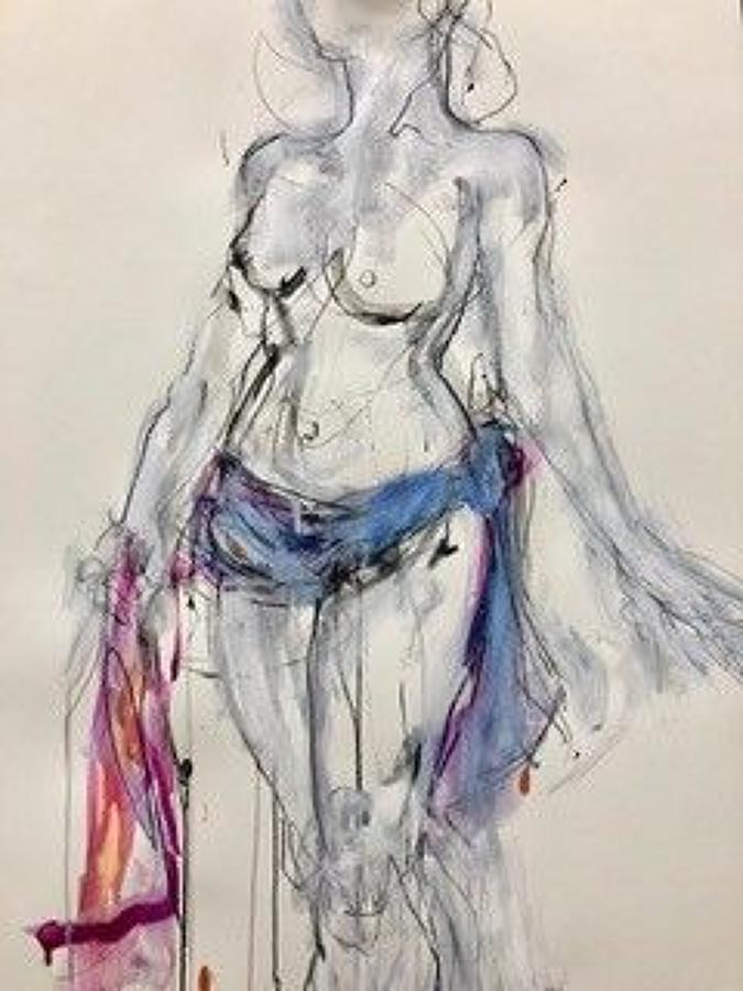 Judith Brenner. Standing Nude.