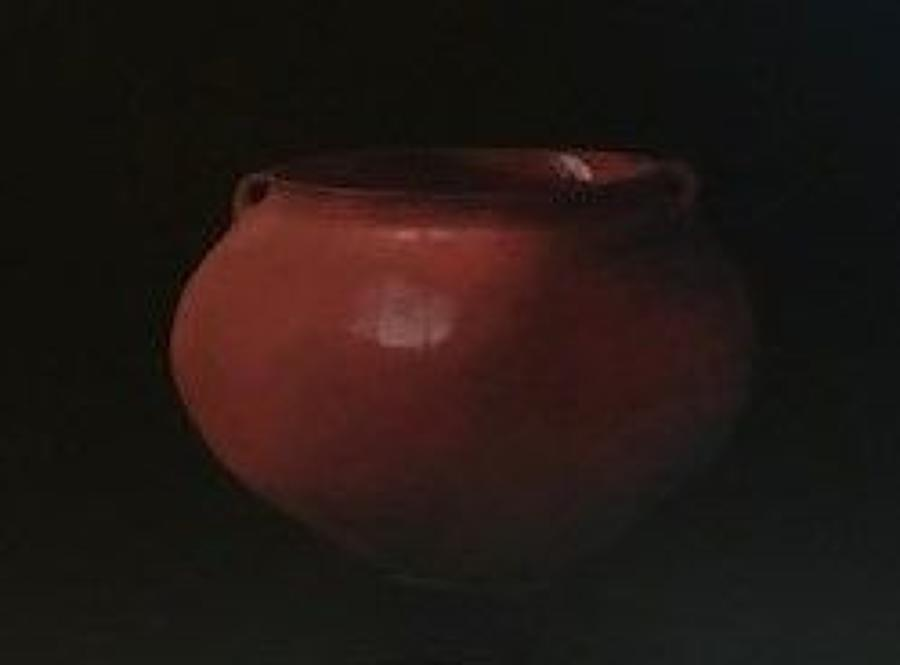 Judith Kuehne. Red moon jar.