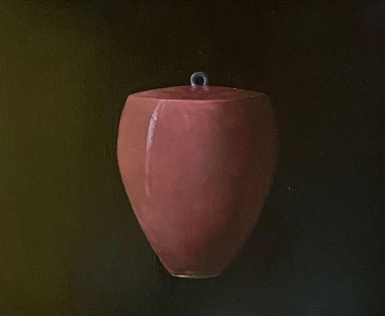 Judith Kuehne. Rose covered jar.