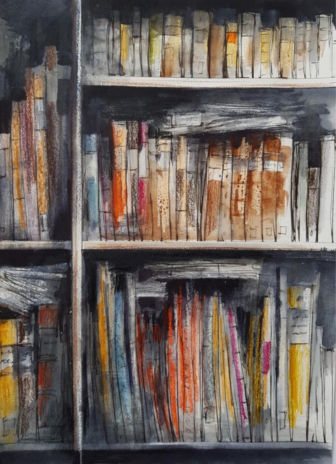 Trevor Newton. Sunlight on books 2
