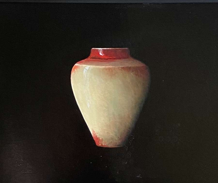 Judith Kuehne. 'Red Copper splashed Chun Canopic Jar 111'
