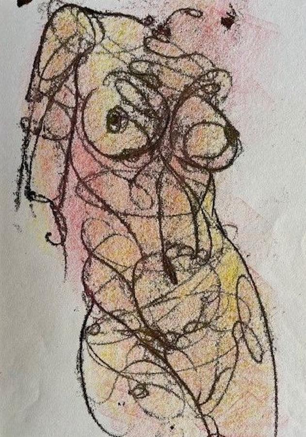 David Hensel. Female Nude Monoprints.